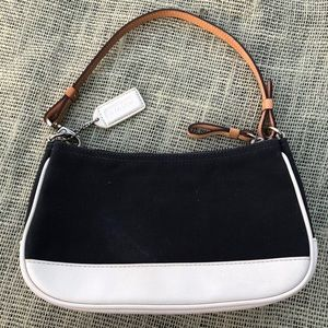 Coach Bags - Coach Baby Leather Cloth Wristlet Purse New